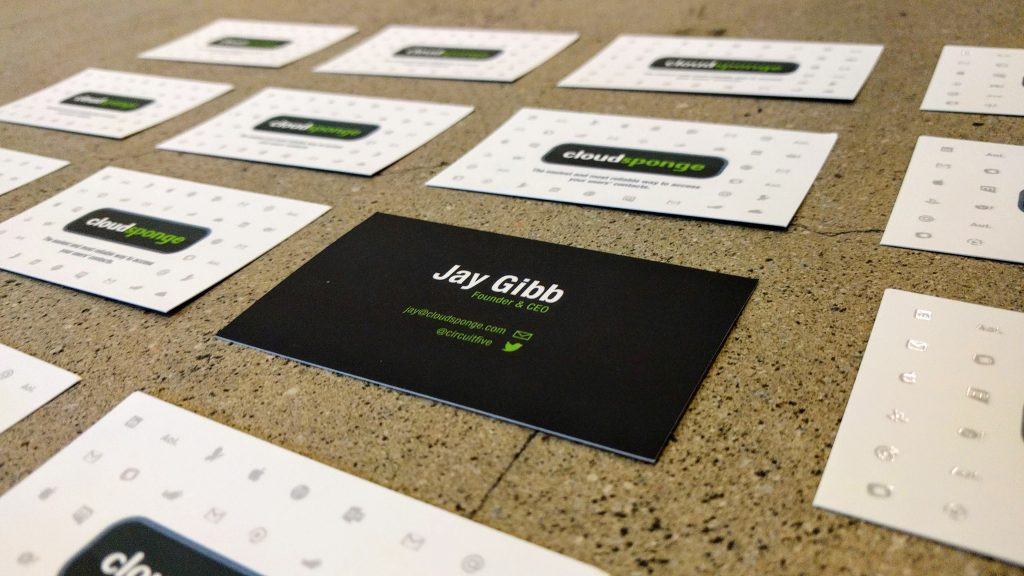 Silk business cards with spot uv