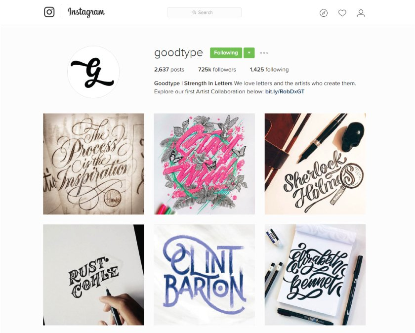 good typography design inspiration for graphic design